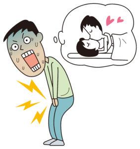 男性器の異変はレディとの性行為